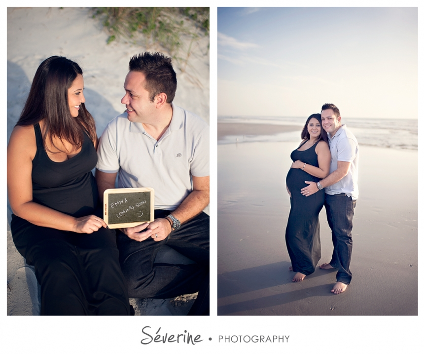 Pregnancy photos at Jacksonville beach