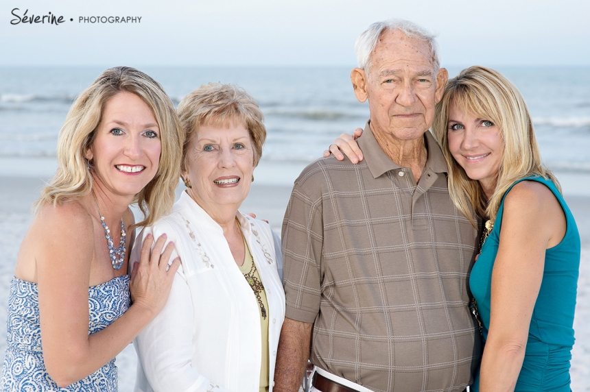 Family pictures at Jacksonville Beach